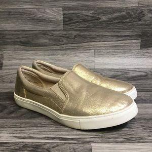 143 Girl Gold Slip On Sneakers